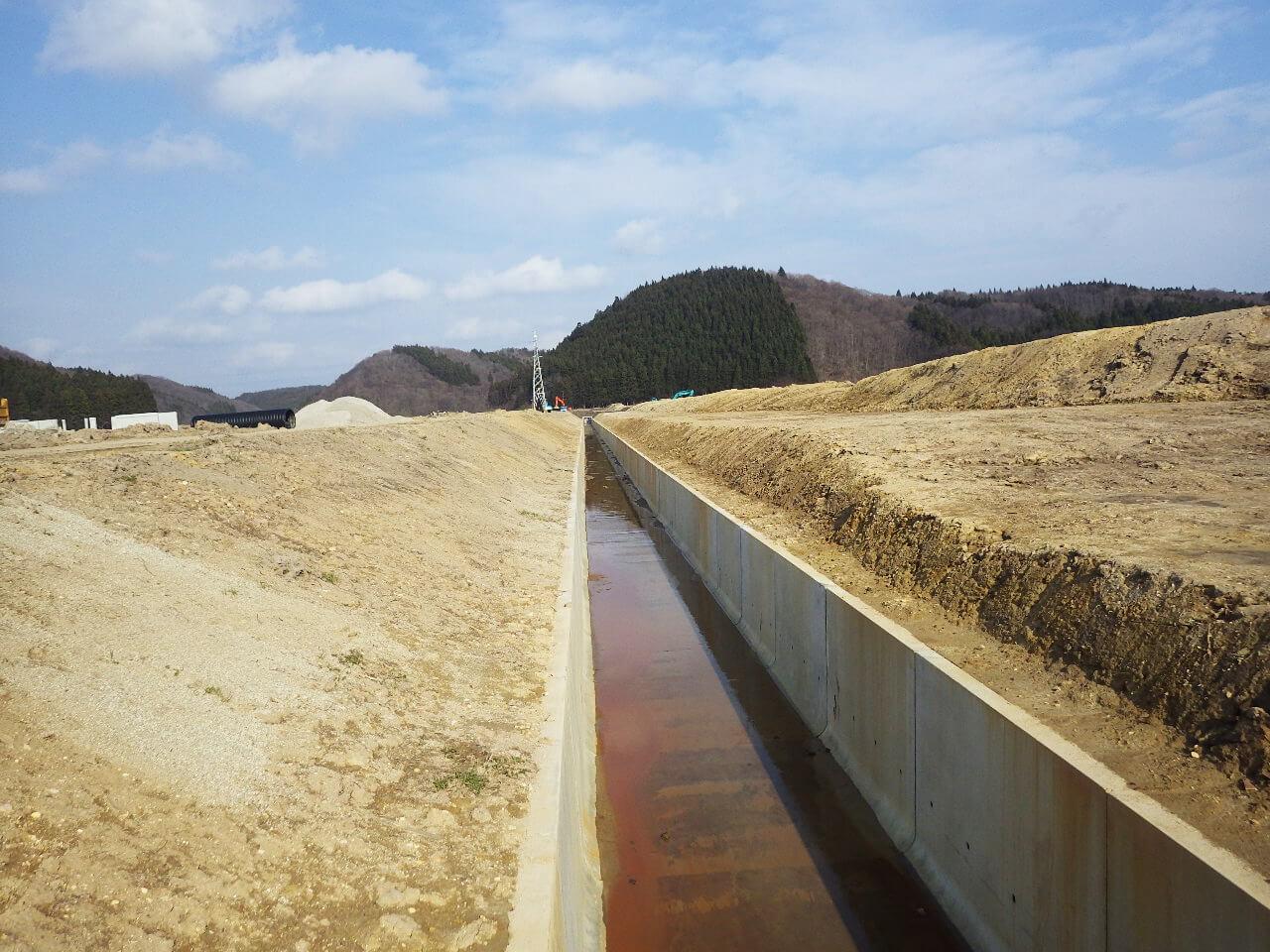 画像:平沢地区 農地集積加速化基盤整備工事