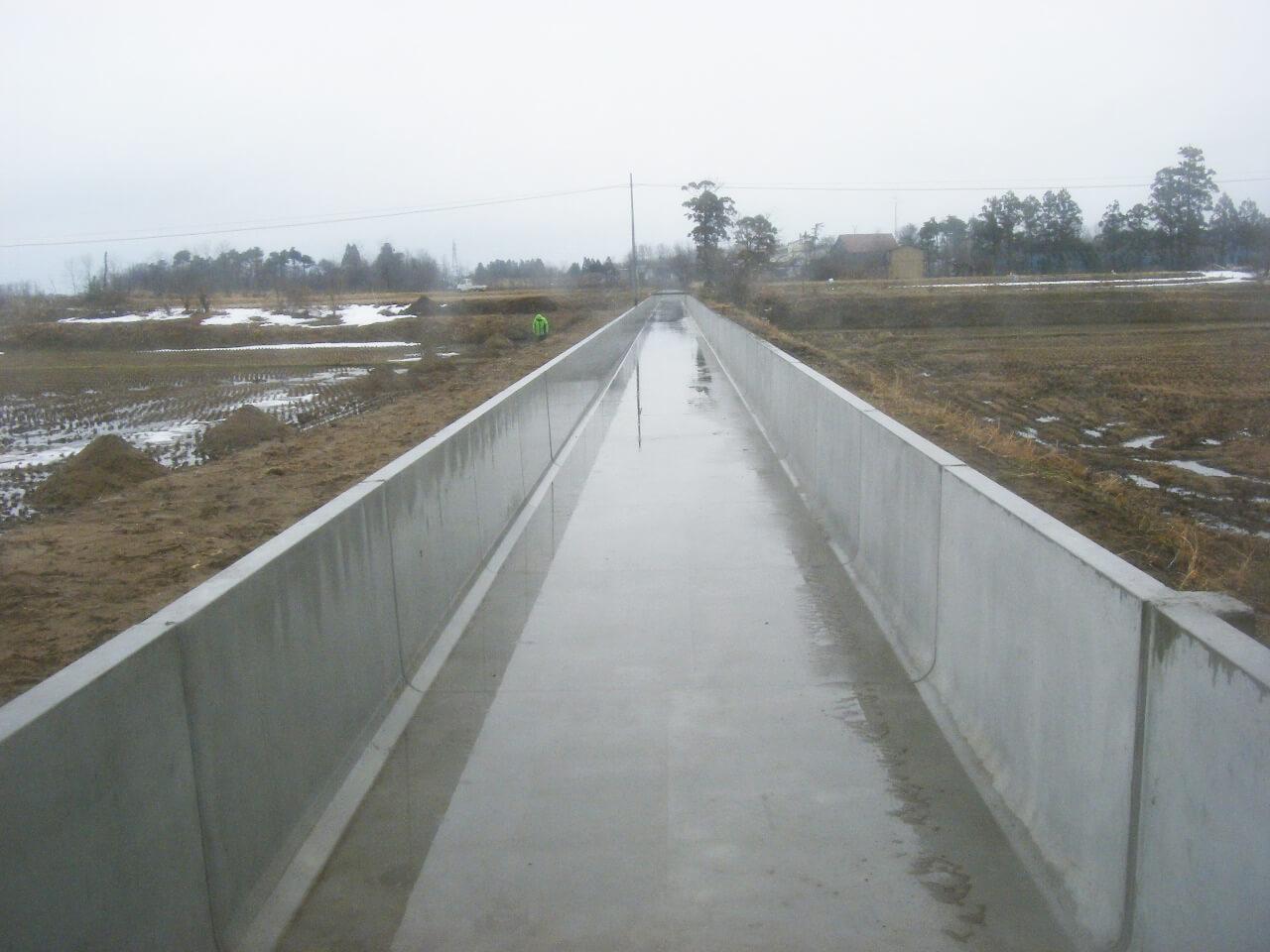 画像:天王地区 農業水利施設長寿命化対策工事