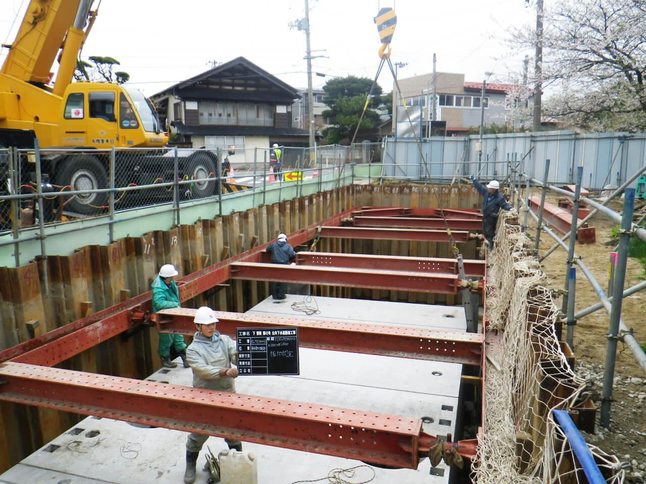 画像:公共下水道築造工事(洪水対策施設)